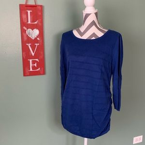 Oh Baby Royal Blue 3/4 Sweater